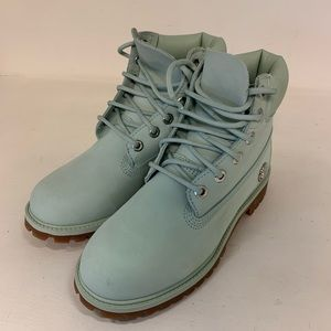 Womens Green Timberland Boots Size 5.5